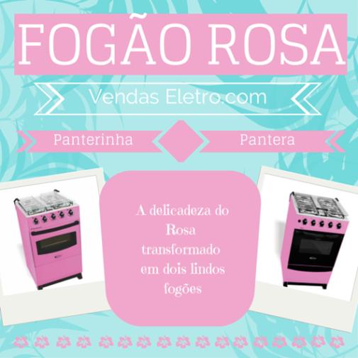 FOGÃO ROSA